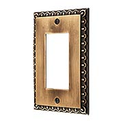 Ovolo Single GFI Cover Plate in Antique-By-Hand (item #R-010MG-403-ABH)