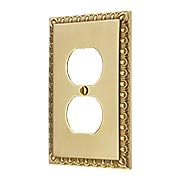Ovolo Single Duplex Outlet Cover Plate (item #R-010MG-404X)