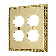 Ovolo Double Gang Duplex Outlet Cover Plate (item #R-010MG-410X)