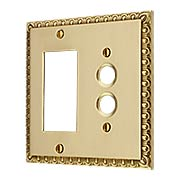 Ovolo Push-Button/GFI Combination Switch Plate (item #R-010MG-413X)