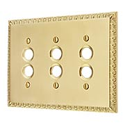 Ovolo Triple Gang Push-Button Switch Plate (item #R-010MG-414X)