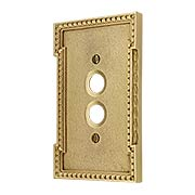 Neoclassical Single Gang Push Button Switch Plate (item #R-010MG-446X)