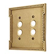 Neoclassical Double Gang Push Button Switch Plate (item #R-010MG-452X)