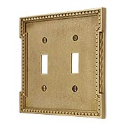 Neoclassical Double Gang Toggle Switch Plate (item #R-010MG-453X)