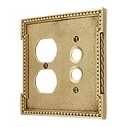 Neoclassical Push Button / Duplex Combination Switch Plate (item #R-010MG-457X)