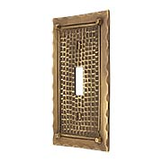 Bungalow Style Single Toggle Switch Plate In Solid Cast Brass (item #R-010MG-BGLW-1TX)