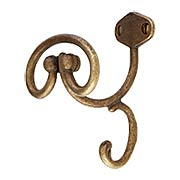 Hat & Coat Hook in Aged Brass (item #R-010RM-43007-10600-03)
