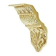 Ornate Victorian Cast Brass Handrail Bracket (item #R-010SE-0700085X)