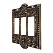 Como Triple GFI Cover Plate in Antique-By-Hand (item #R-010SE-289-ABH)