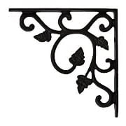 Cast Iron Shelf Bracket With Vine Pattern - 4 1/2