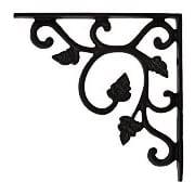 cast iron shelf bracket with vine pattern 4 12