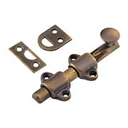 4-Inch Medium-Duty Solid Brass Surface Bolt in Antique-By-Hand (item #R-01BM-8720-ABH)