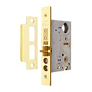 Heavy Duty Entrance Mortise Lock - Thumb latch to Knob Function 2 3/4