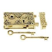 Solid Brass Century Rim Lock With Choice of Finish (item #R-01DE-1032X)