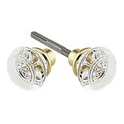 Pair of Lead Free Round Crystal Knobs (item #R-01HH-PK-RNDX)