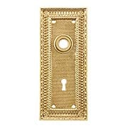 Pisano Cast-Brass Door Plate with Keyhole (item #R-01MG-PSN-2X)