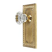 Pisano-Design Door Set with Fluted Crystal Glass Knobs (item #R-01MG-PSN-C-TX)