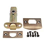 Premium Brass Standard Tubular Latch in Antique-By-Hand - 2 3/8