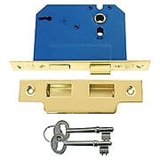 Standard Brass Mortise Lock - 2 1/4