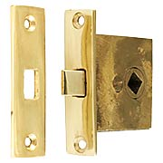 Small Solid-Brass Mortise Latch - 1 3/8