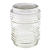 Retro Clear Glass Jar Shade - 3 1/4 Inch Fitter (item #R-03BP-08636)