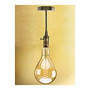 Nostalgic Swag Pendant with Spiral  Medium-Base Jumbo Bulb - 60W (item #R-03BR-810081-137101)