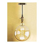Nostalgic Swag Pendant with Round Spiral Medium-Base Jumbo Bulb - 60W (item #R-03BR-810081-137401)