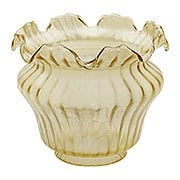 Vianne Amber Color Floral Glass Shade With 4