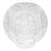 Etched Floral Ball Gas Light Shade - 4 Inch Fitter (item #R-03PB-08595)