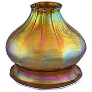 Aurene Style Iridescent Glass Shade - 2 1/4 Inch Fitter (item #R-03PB-08911)