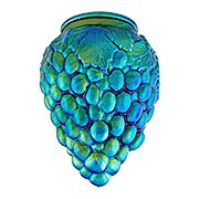 Peacock Blue Iridescent Glass Grapes Shade  - 3 1/4 Inch Fitter (item #R-03PB-08913)