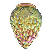Gold Iridescent Glass Grapes Shade  - 3 1/4 Inch Fitter (item #R-03PB-08914)