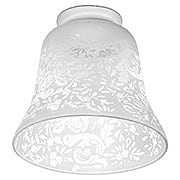 Etched Rose Pattern Shade with 2 1/4