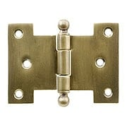 Solid-Brass Parliament Hinge with Ball Tips in Antique-By-Hand - 2 1/4-Inch by 3-Inch (item #R-04BM-8818-ABH)
