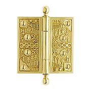 4-Inch Ball-Tip Windsor Pattern Hinge In Solid Brass (item #R-04DE-110X)