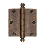 3 1/2-Inch Distressed Solid-Bronze Door Hinge with Ball Finials (item #R-04DE-303X)