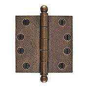 4-Inch Distressed Solid-Bronze Door Hinge with Ball Finials (item #R-04DE-304X)
