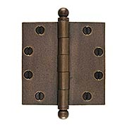 4 1/2-Inch Distressed Solid-Bronze Door Hinge with Ball Finials (item #R-04DE-305X)