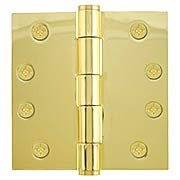 4-Inch Heavy Duty Plated Steel Door Hinge With Button Tips (item #R-04EM-92014X)