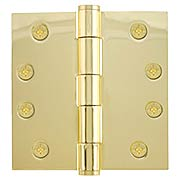 4 1/2-Inch Heavy Duty Plated-Steel Door Hinge With Button Tips (item #R-04EM-92015X)