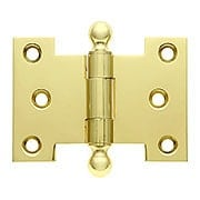 Heavy Duty Solid-Brass Parliament Hinge with Ball Tips - 2 1/2