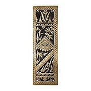 Oriental Pattern Push Plate In Solid, Cast Bronze (item #R-05CH-1342-US9A)