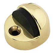 Tall Dome Door Stop with Black Rubber Bumper (item #R-06AD-FS3X)