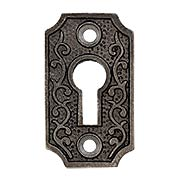 Cast-Iron Scroll Keyhole Cover (item #R-06DE-C1033-SKHX)