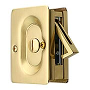 Premium Quality Mid-Century Pocket Door Privacy Lock Set (item #R-06EM-2102X)