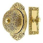 Floral Design Mechanical Door Bell In Solid Brass (item #R-06IH-18055X)