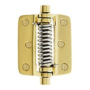 Plain Solid Brass Screen Door Hinge With  Button Tips (item #R-06SE-0700460X)