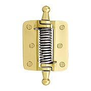 Plain Brass Screen Door Hinge With Cone & Ball Finials (item #R-06SE-170005X)
