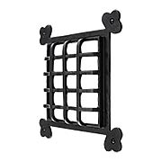 Clubs Cast Iron Door Grille - 8 5/8 x 8 5/8-Inch (item #R-06SE-492X)