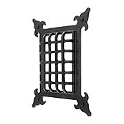French Country Cast Iron Door Grille - 7 1/8 x 5 7/8-Inch (item #R-06SE-494X)